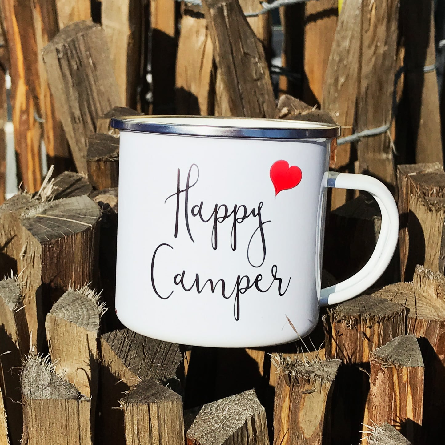 Camping Tasse mit Motiv HAPPY CAMPER