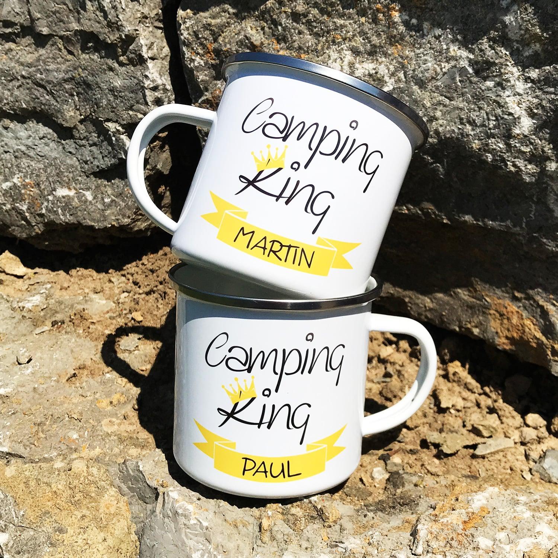 Camping Tasse mit Motiv CAMPING KING - personalisiert -