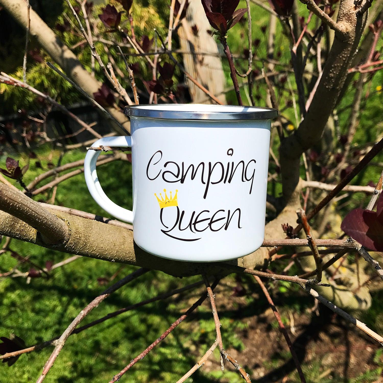 Camping Tasse mit Motiv CAMPING QUEEN