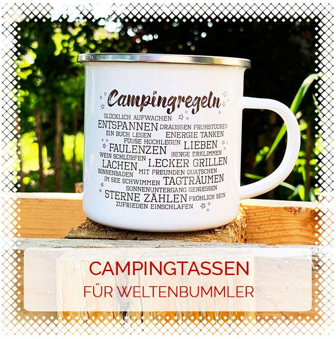 Campingtassen für Weltenbummler & Globetrotter