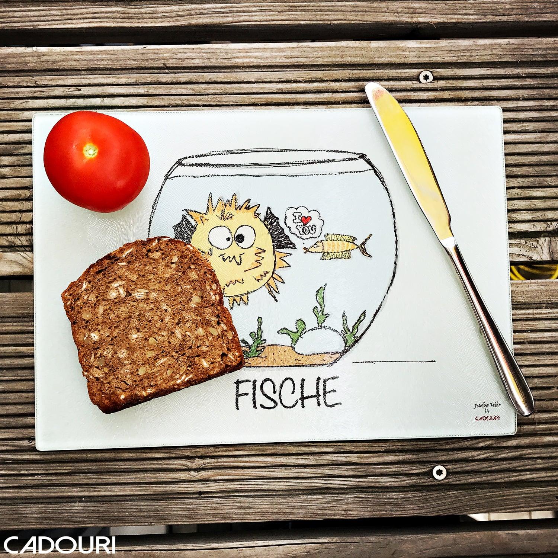 Frühstücksbrettchen mit Sternzeichen FISCHE