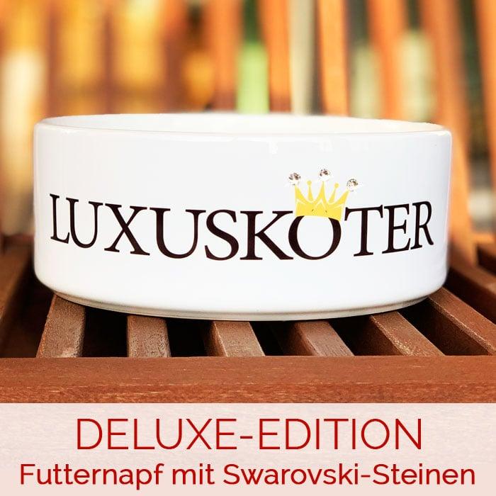DELUXE-Edition - Futternapf mit Swarovski-Steinen