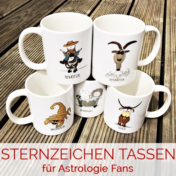 Sternzeichen Tassen für Astrologie Fans