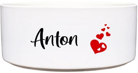 Keramik Futternapf HERZEN ❤︎ personalisiert ❤︎
