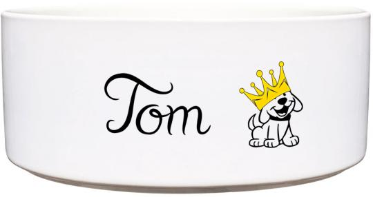 Keramik Futternapf HUND MIT KRONE ❤︎ personalisiert ❤︎