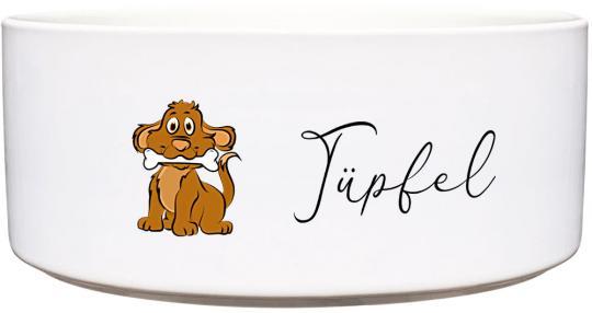 Keramik Futternapf HUNDEFIGUR ❤︎ personalisiert ❤︎