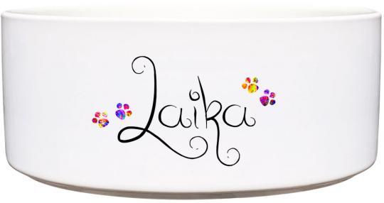 Keramik Futternapf KLEINE BUNTE PFOTEN ❤︎ personalisiert ❤︎