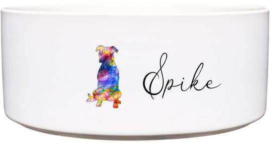 Keramik Futternapf PITBULL ❤︎ personalisiert ❤︎