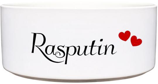 Keramik Futternapf ROTE HERZEN ❤︎ personalisiert ❤︎ 1.300 ml