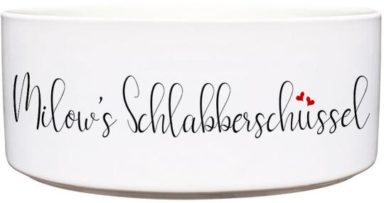 Keramik Futternapf SCHLABBERSCHÜSSEL ❤︎ personalisiert ❤︎
