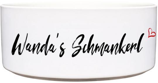 Keramik Futternapf SCHMANKERL ❤︎ personalisiert ❤︎