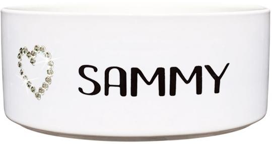Keramik Futternapf SWAROVSKI HERZ ❤︎ personalisiert ❤︎