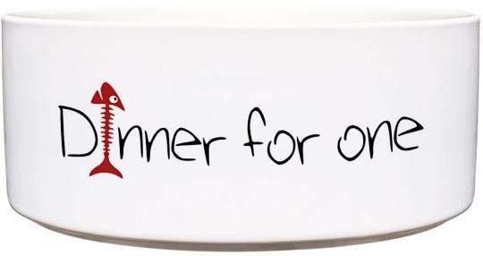 Keramik Futternapf DINNER FOR ONE