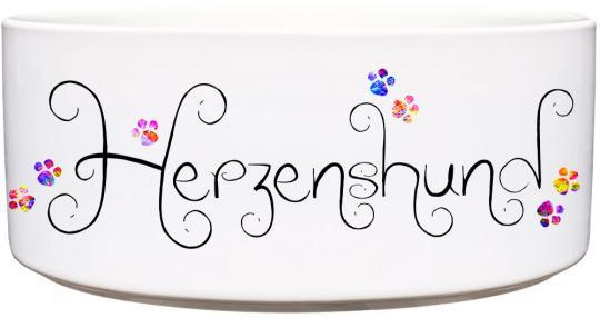 Keramik Futternapf HERZENSHUND