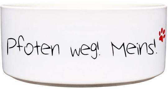 Keramik Futternapf PFOTEN WEG! MEINS!