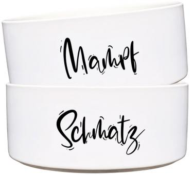 Keramik Futternapf-Set SCHMATZ & MAMPF