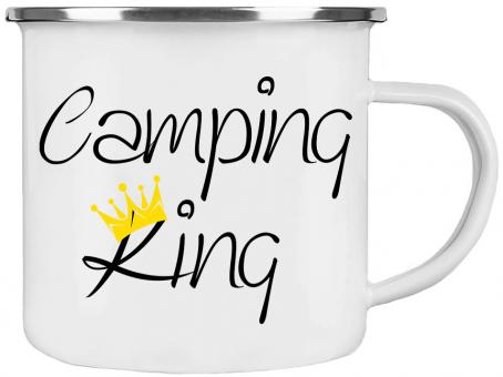 Emaille-Tasse CAMPING KING