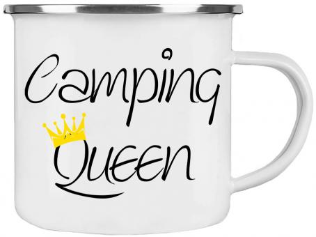 Emaille-Tasse CAMPING QUEEN