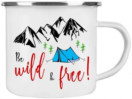 Emaille-Tasse WILD & FREE