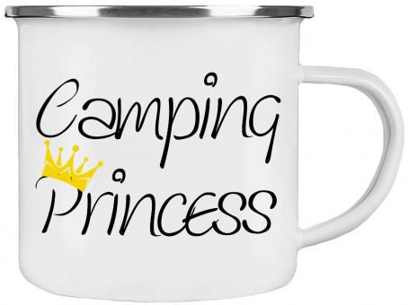 Emaille Tasse CAMPING PRINCESS