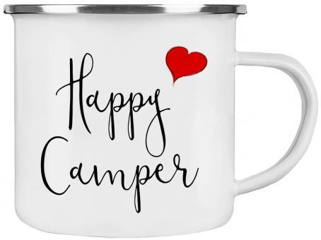 Emaille-Tasse HAPPY CAMPER