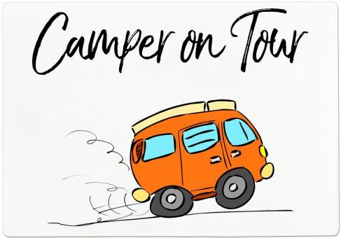 Frühstücksbrettchen CAMPER ON TOUR