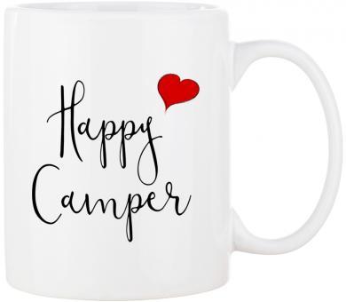 CAMPING Tasse mit Spruch HAPPY CAMPER