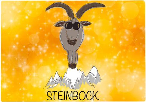 Schneidebrett STERNZEICHEN STEINBOCK