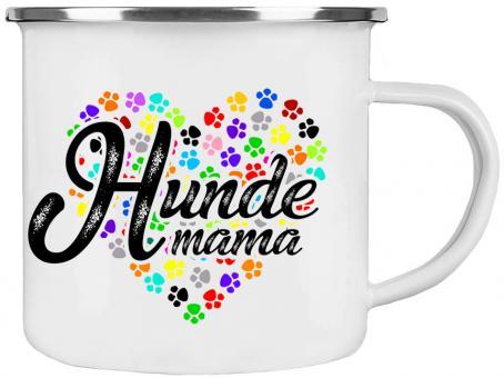 Emaille-Tasse HUNDEMAMA