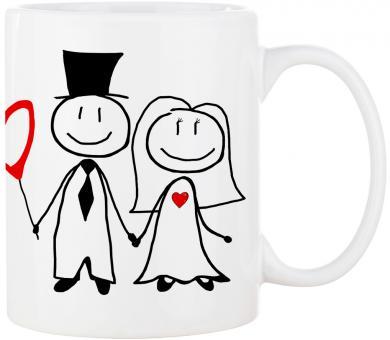 MR. & MRS. Hochzeitstasse ❤︎ personalisiert ❤︎