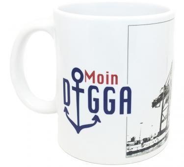 MOIN DIGGA Tasse mit Hamburg-Motiv