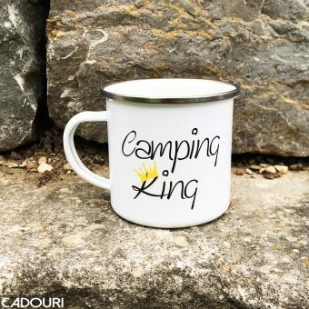 emaille tasse camping king im cadouri handmade shop kaufen. Black Bedroom Furniture Sets. Home Design Ideas
